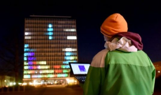 German Students Transform Buildings Into Art Projections of Tetris and Breakout: Innovative Art