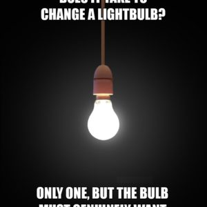Changing a Lightbulb