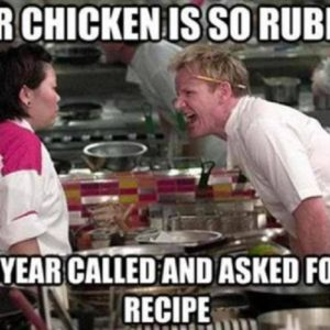 Chicken Is So Rubbery