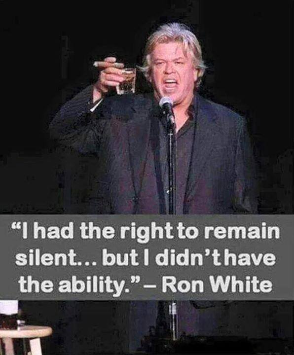 I Had The Right To Remain Silent