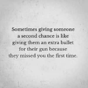Sometimes Giving Someone A Second Chance