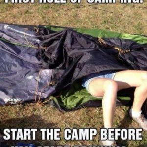 Camp Before Drinking