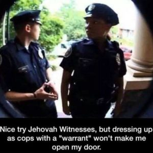 Dressing Up As Cops