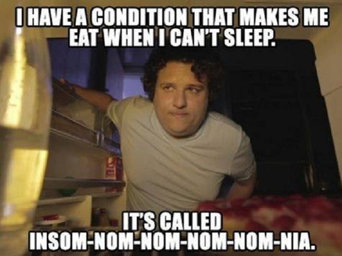 Funny Meme Eating : Eat when i can t sleep funny pictures quotes memes