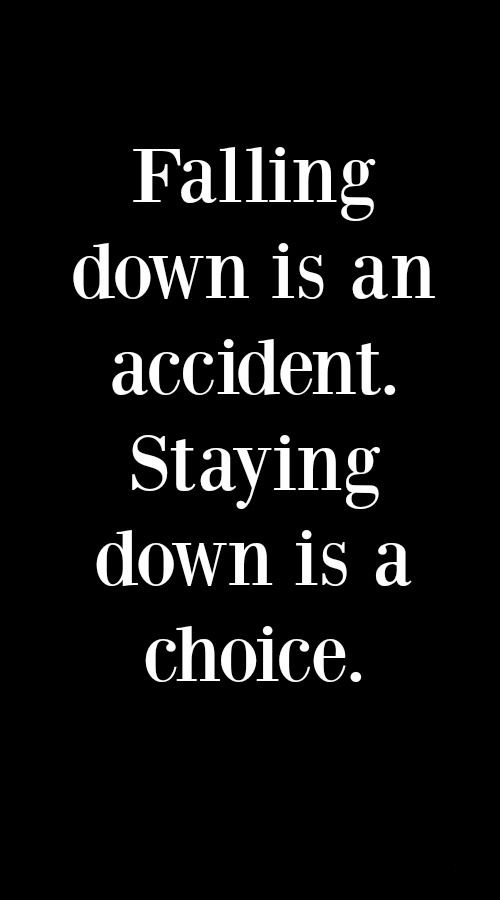 Falling Down Is An Accident