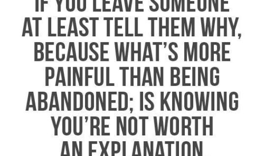 If You Leave Someone