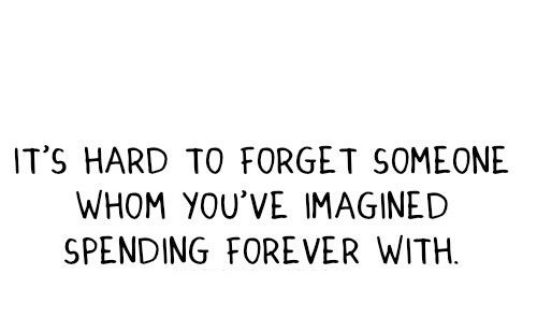 It's Hard To Forget Someone