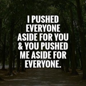 You Pushed Me