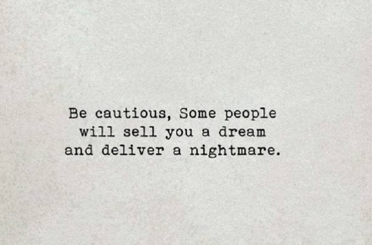 Be Cautious