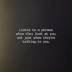Listen To A Person