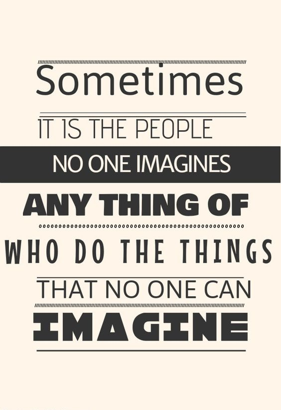 No One Imagines