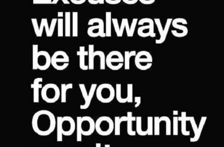 Opportunity Won't