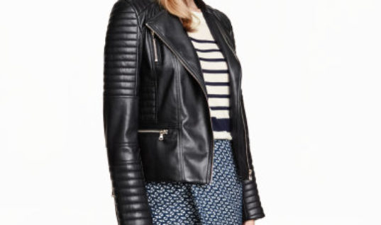 Embrace Your Edgy Side With This Thrifty Faux Leather Jacket