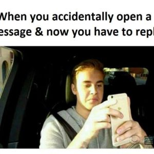 Accidentally Open A Message