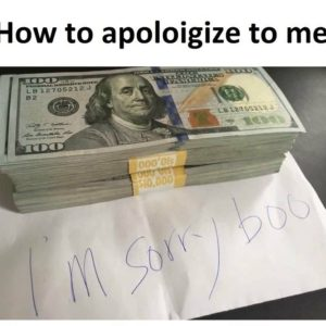Apologize To Me