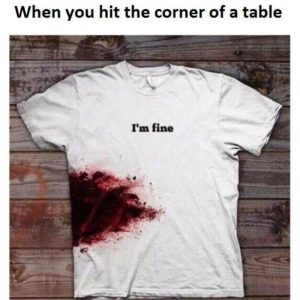 Hit The Corner Of The Table