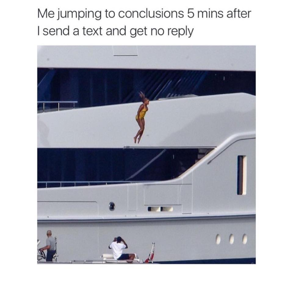 Jumping To Conclusions Quotes Classy Jumping To Conclusions  Funny Pictures Quotes Memes Funny