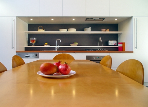 The kitchen on modern town residence