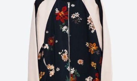 Get Ready For Spring With This Floral Print Bomber Jacket