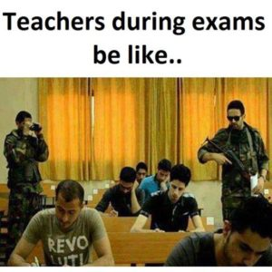 During Exams