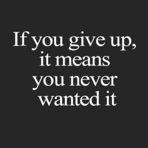 If You Give Up