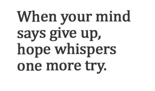 Mind Says Give Up