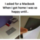 Asked For A Macbook