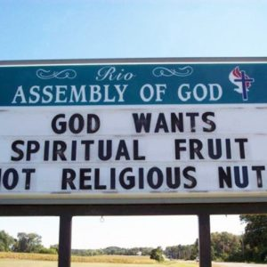 Clever Church Sign
