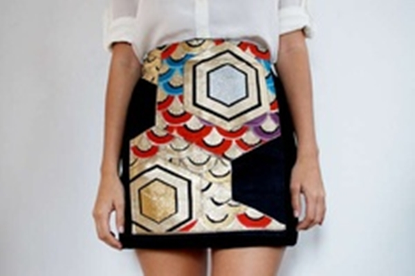 diy abstract skirt