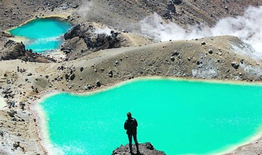 The Picturesque Emerald Lakes from New Zealand