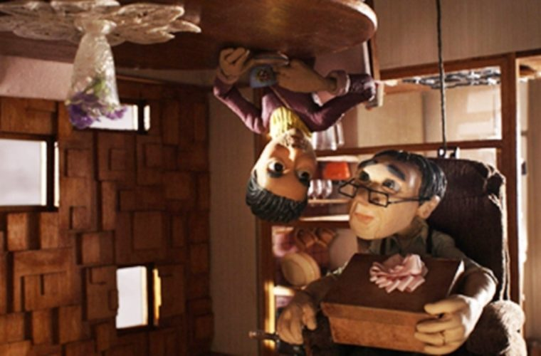 """""""Head Over Heels"""": Oscar-nominated Animated Short About an Upside Down Relationship"""