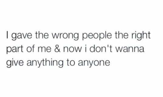 Gave The Wrong People