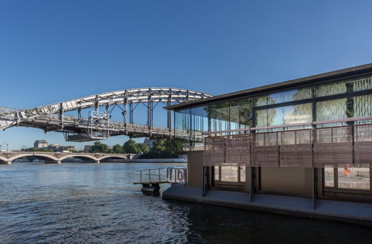 First Hotel on the River Seine Floats on a Modern Barge