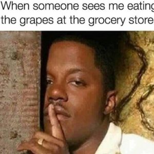 Eating The Grapes