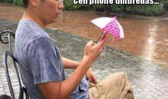 Cell Phone Umbrellas