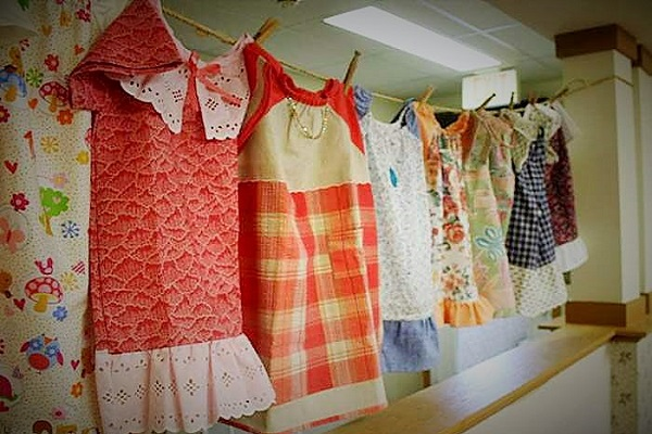 Dresses made by 99-year-old Lillian Weber