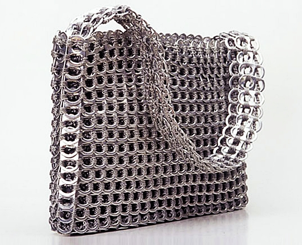 fancy bag recycled aluminum pull tabs