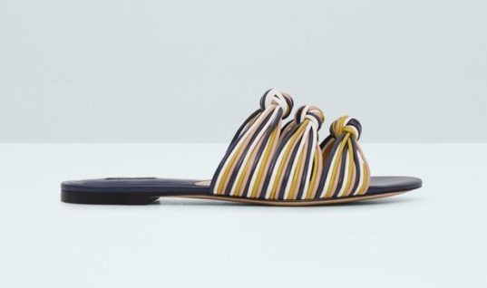 Grace Your Feet With These Colorful Knotted Flat Sandals