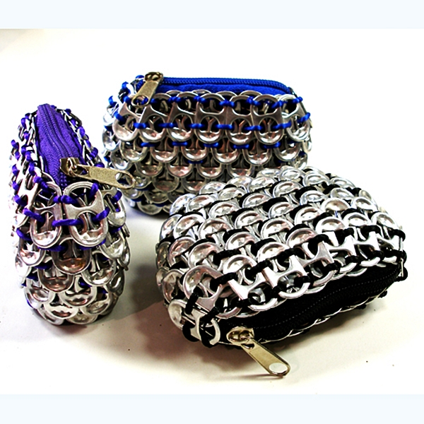 wallets recycled aluminum pull tabs