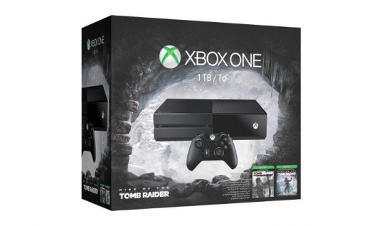 "Xbox One ""Rise Of Tomb Raider"" Bundle Includes 1Tb Hdd and Both Titles"