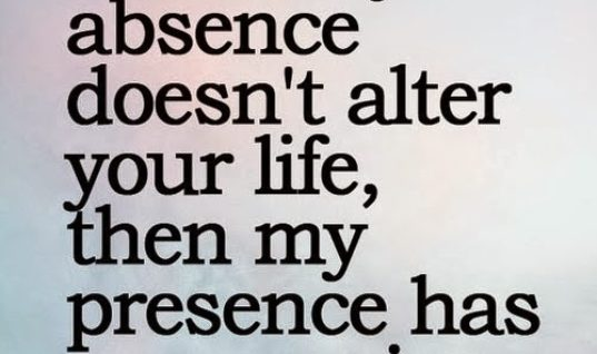 Absence and Presence