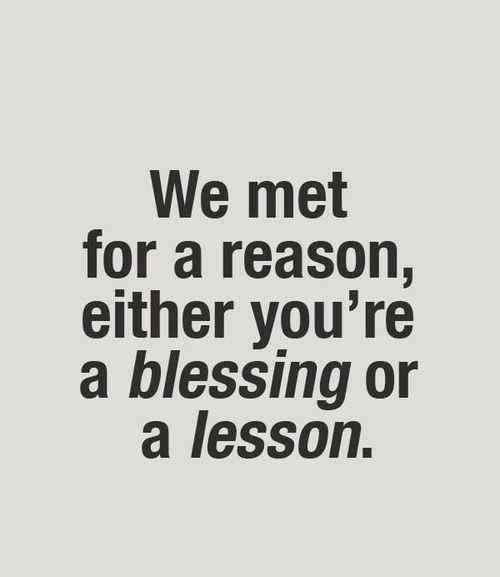 Blessing or Lesson