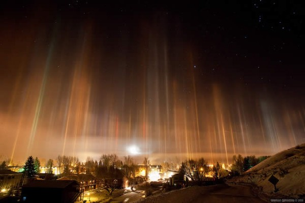 Light Pillars, photography