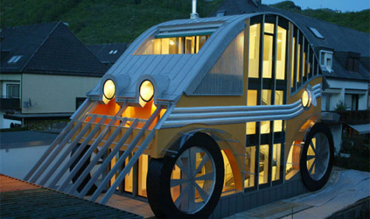 Unique Architectural House Design Inspired by a Car