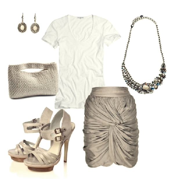 dress up plain white tee