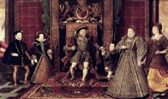 The Tudor Myth of History Around the English Throne
