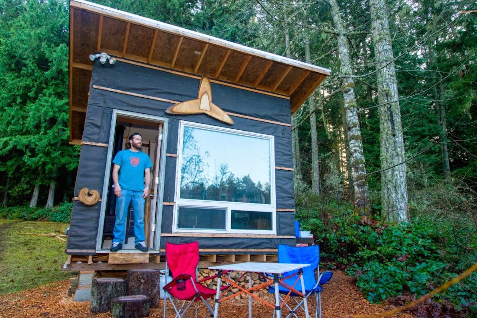 Marvelous A Tiny Home From $500? That Sounds Nuts. But Itu0027s Exactly What Scott Brooks  Was Able To Do In The Pacific Northwest. In Fact, He Estimates It Cost Far  Less ...