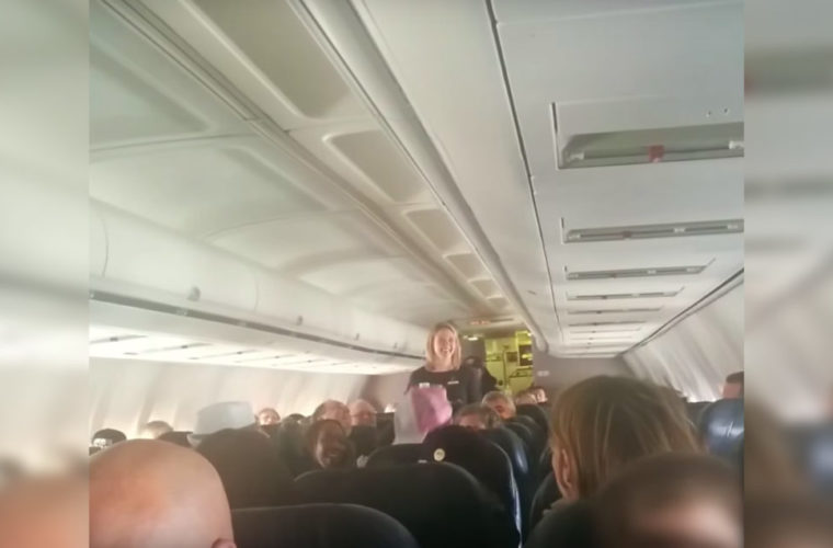 When This Flight Attendant Heard A Strange Voice On The Intercom She Rushed To The Front Of The Plane