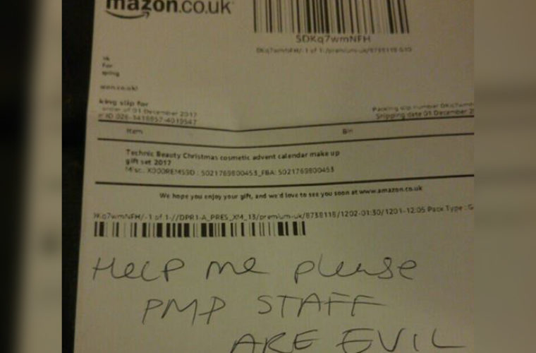 When A Girl Received A Package From Amazon, She Never Imagined She'd Find A Disturbing Note Inside