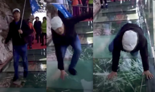 He Was Walking On A Glass Bridge. Within Seconds, It Started Shattering Under Him—The Truth Will Have You Shaking
